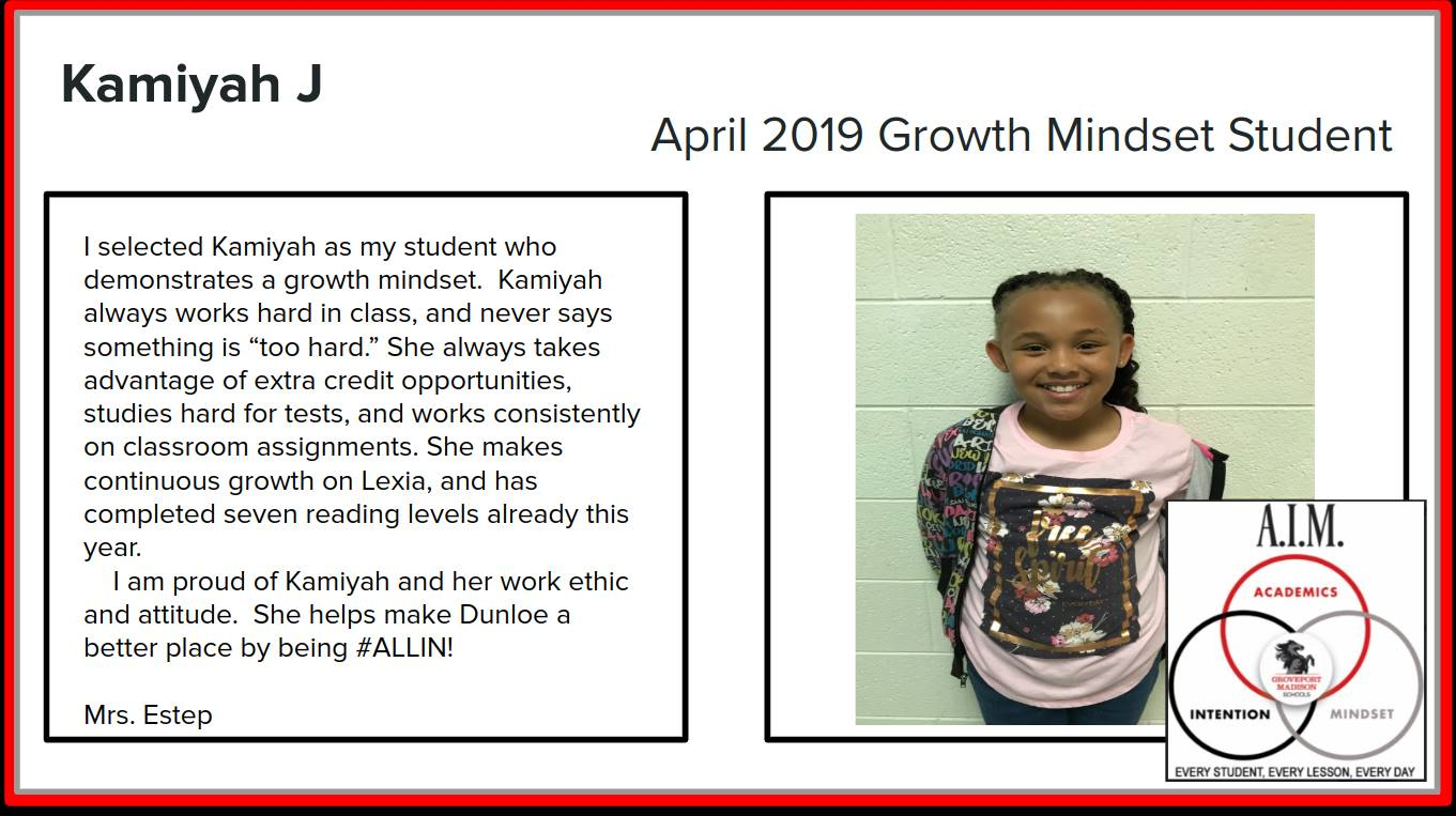 Growth Mindset Kamiyah