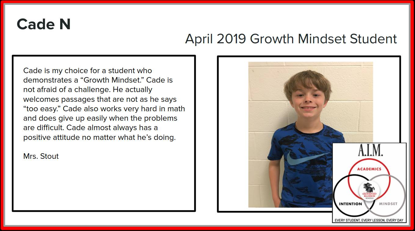 Growth Mindset Cade