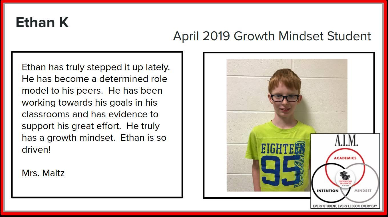 Growth Mindset Ethan