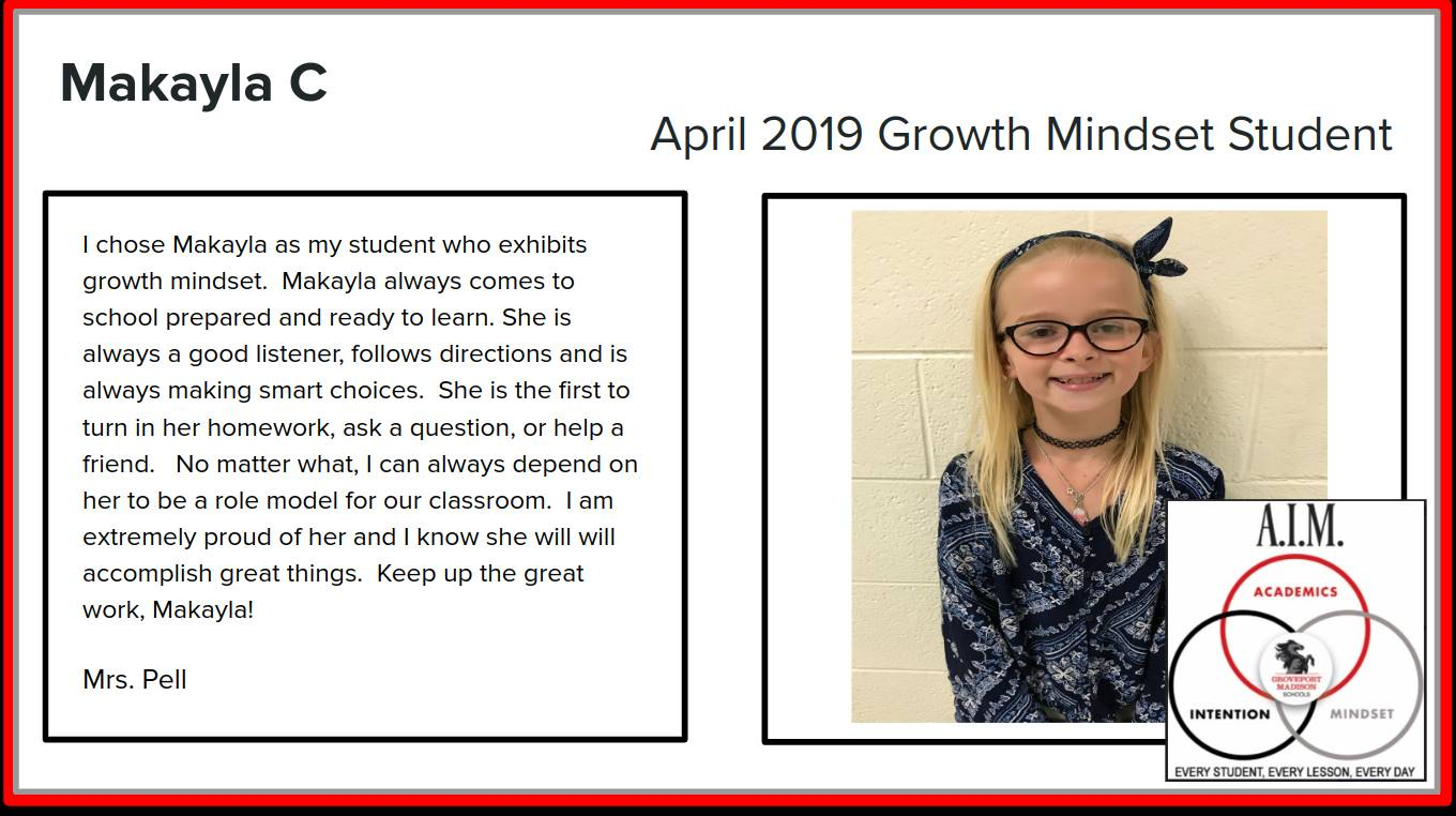 Growth Mindset Makayla