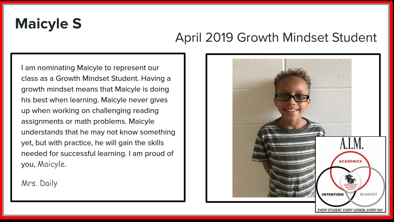 Growth Mindset Maicyle