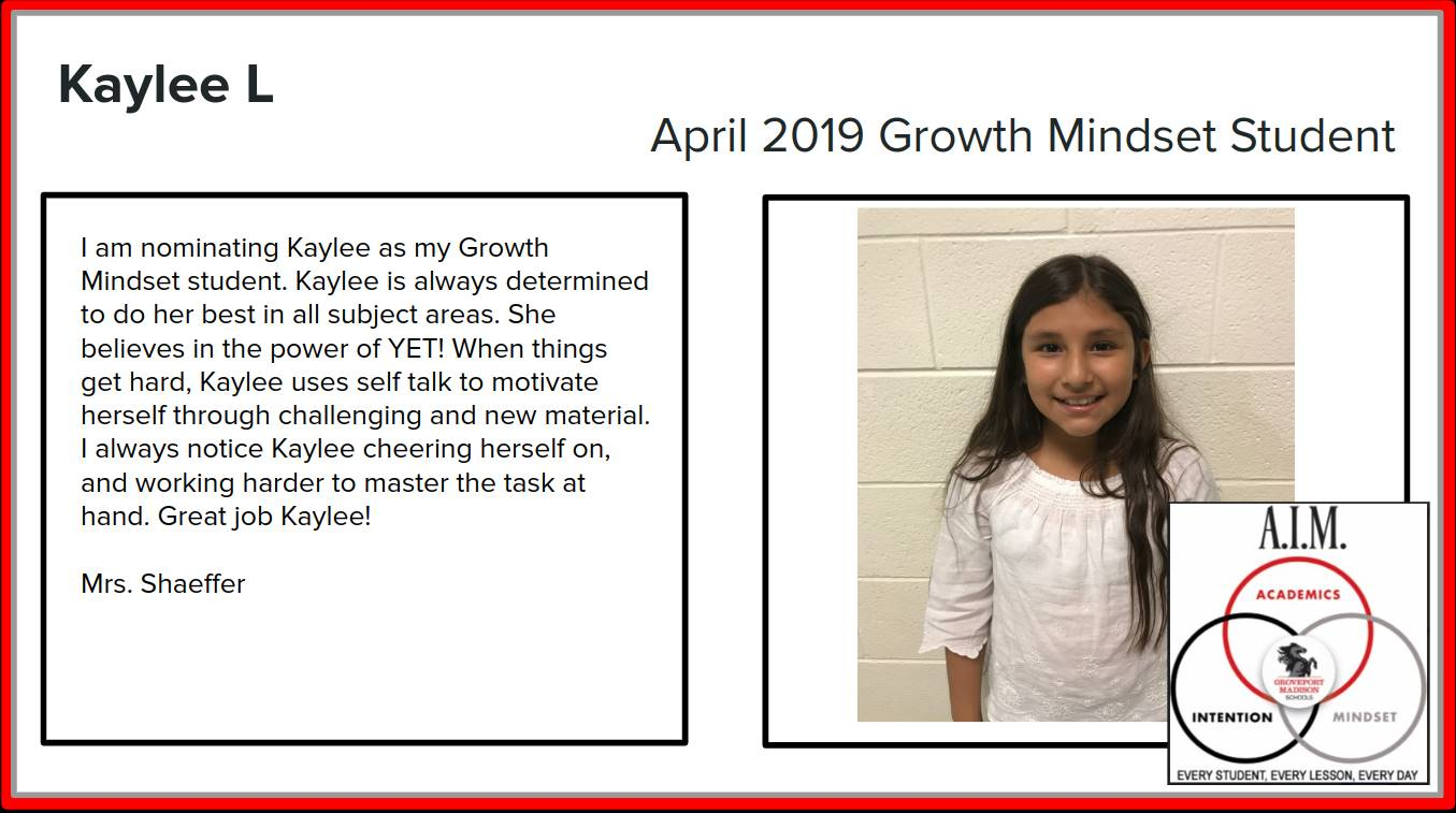 Growth Mindset Kaylee