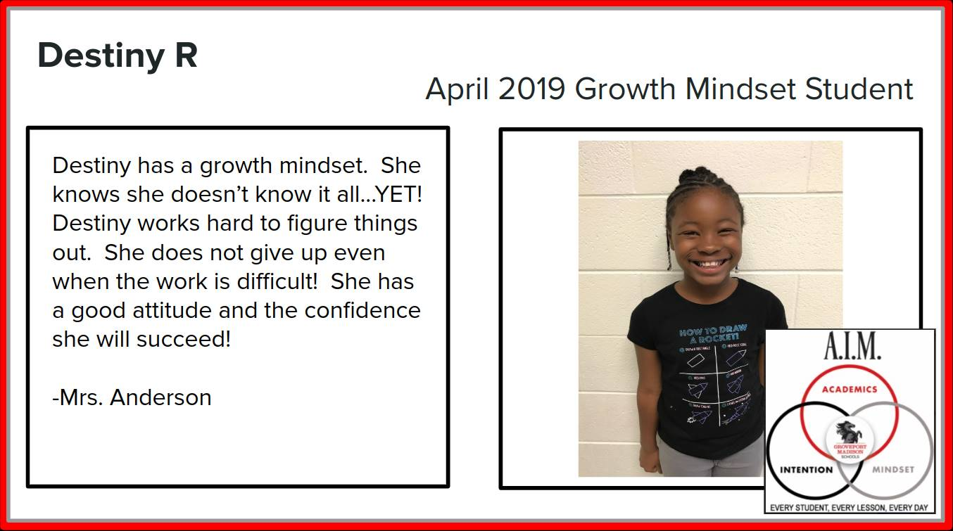 Growth Mindset Destiny