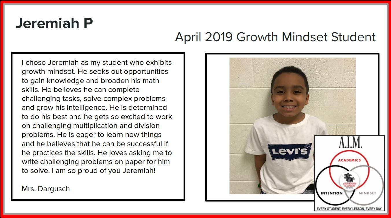 Growth Mindset Jeremiah