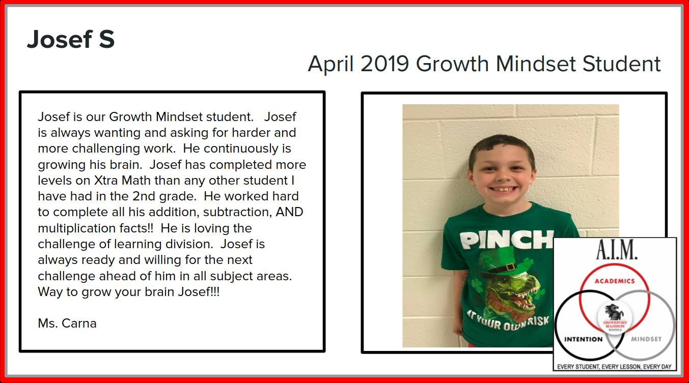 Growth Mindset Josef
