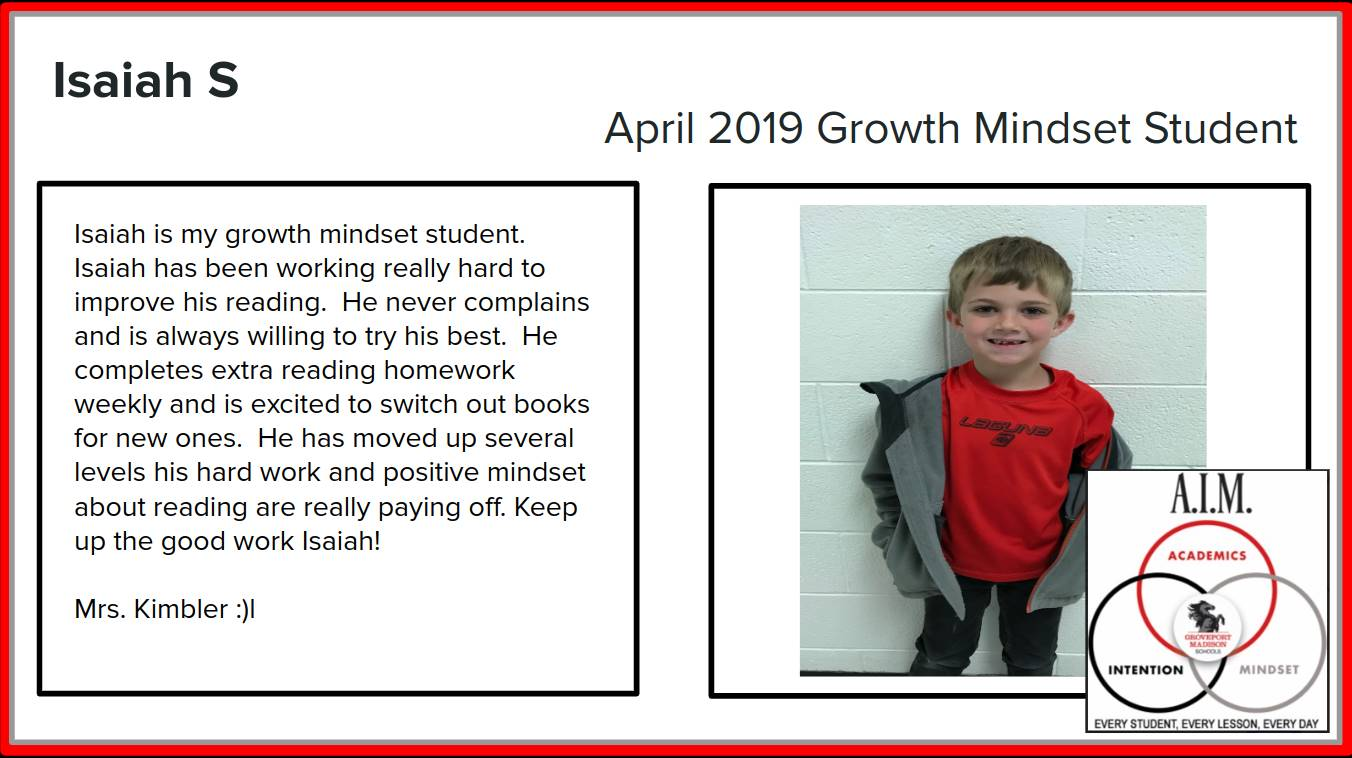 Growth Mindset Isaiah