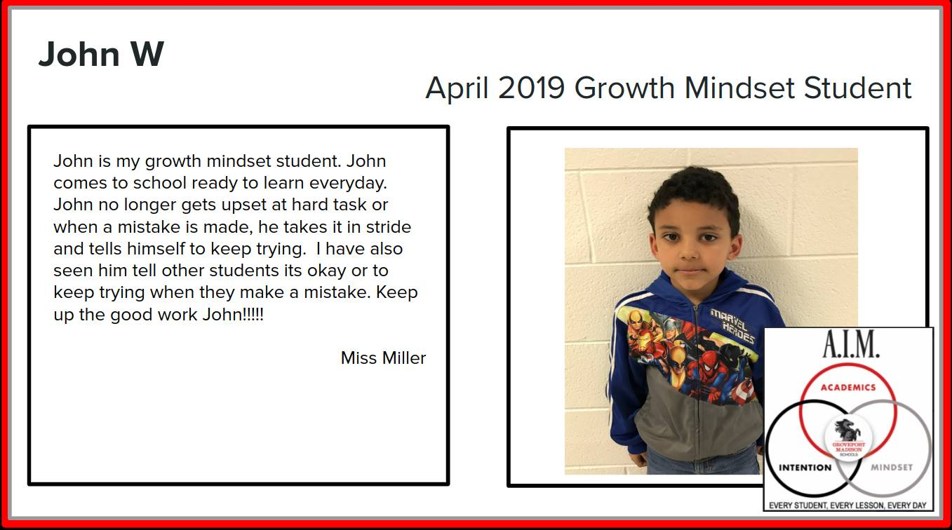 Growth Mindset John