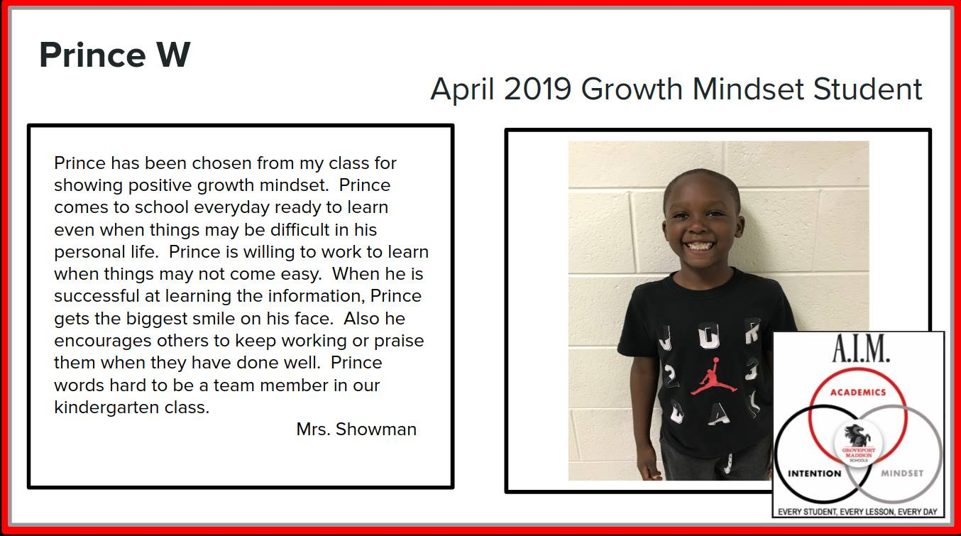 Growth Mindset Prince