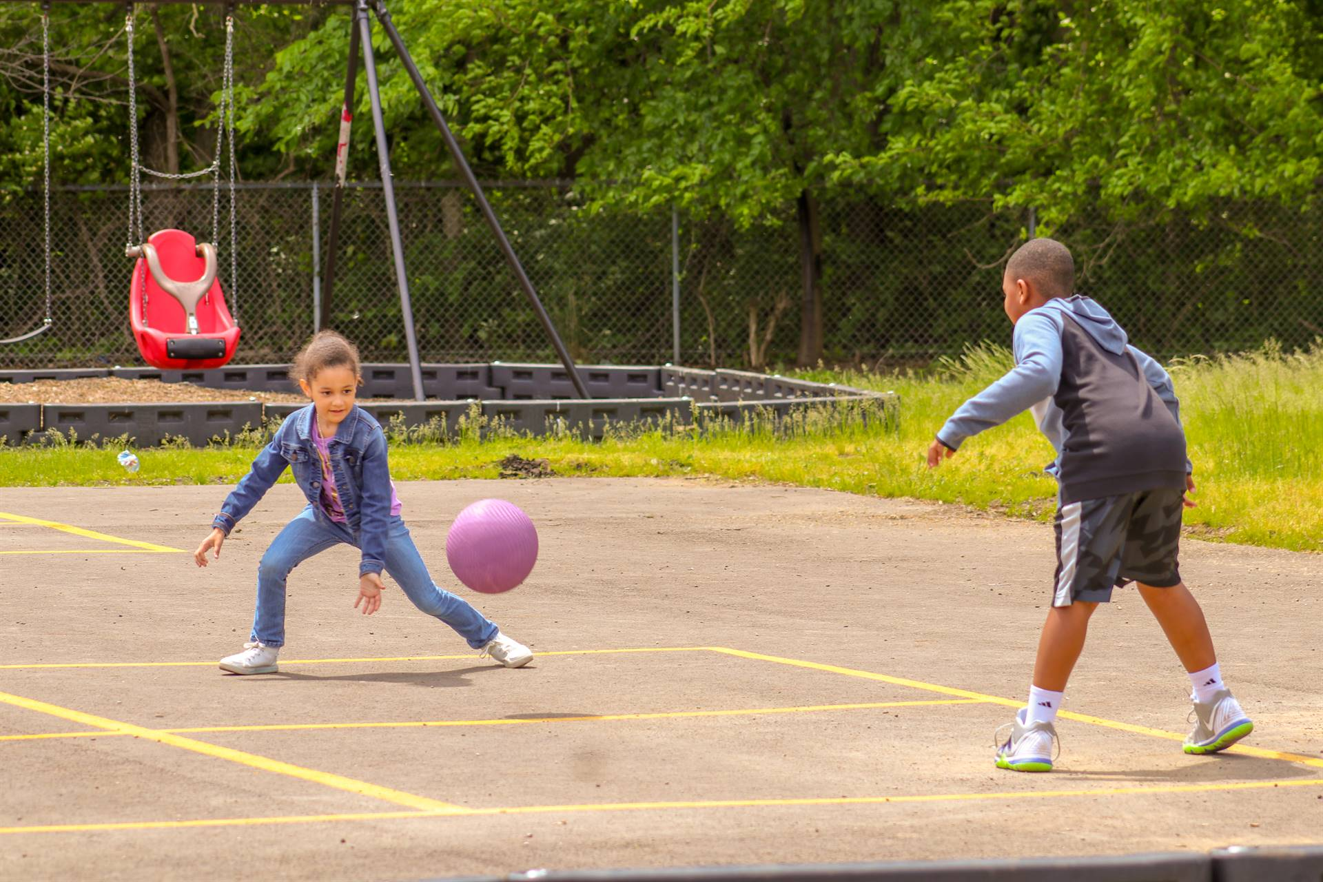 Students enjoying outdoor games!