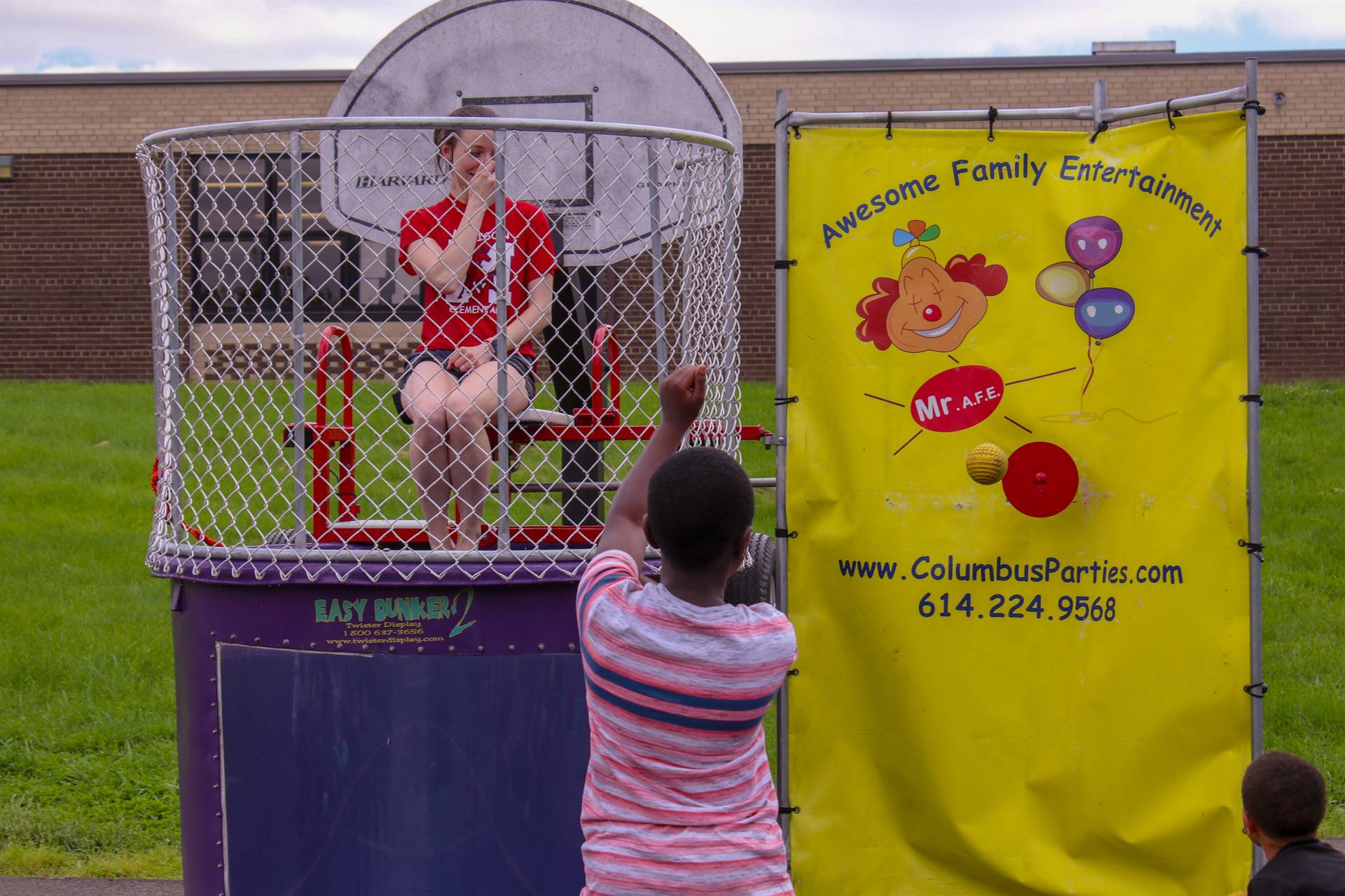 Teachers getting dunked by students!