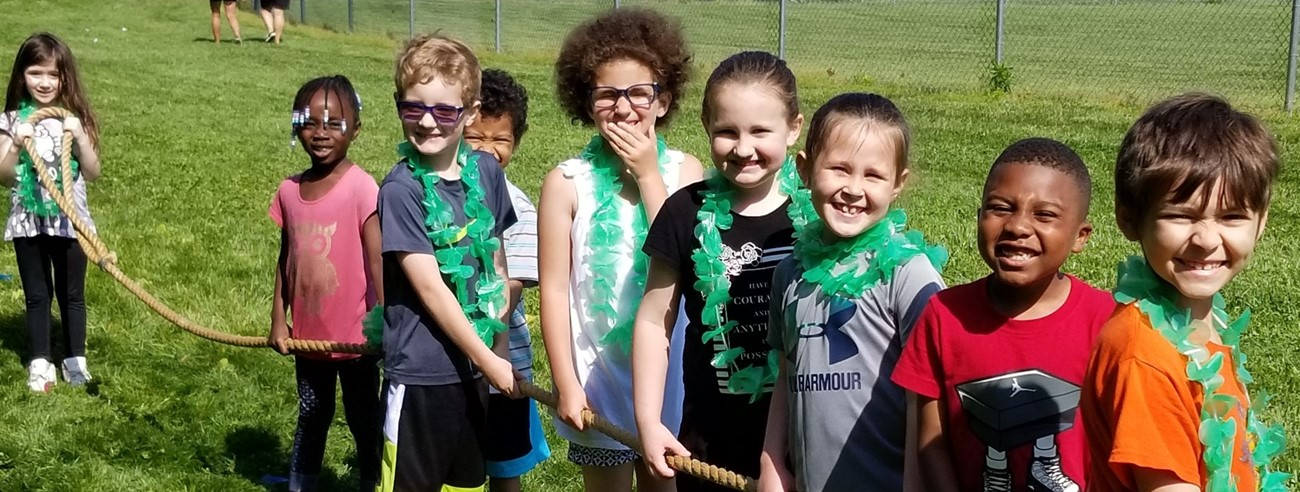 Kindergarten enjoying field day
