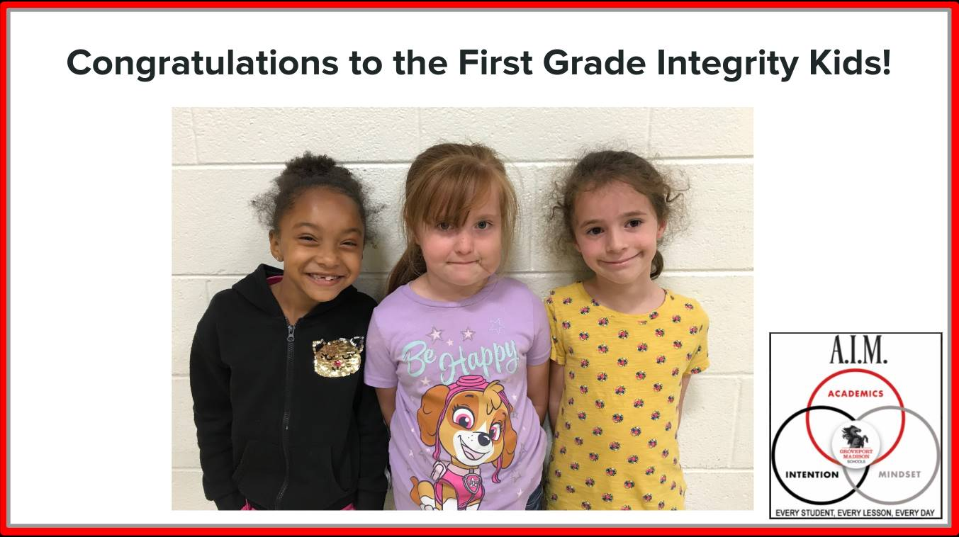 First Grade Focus Students