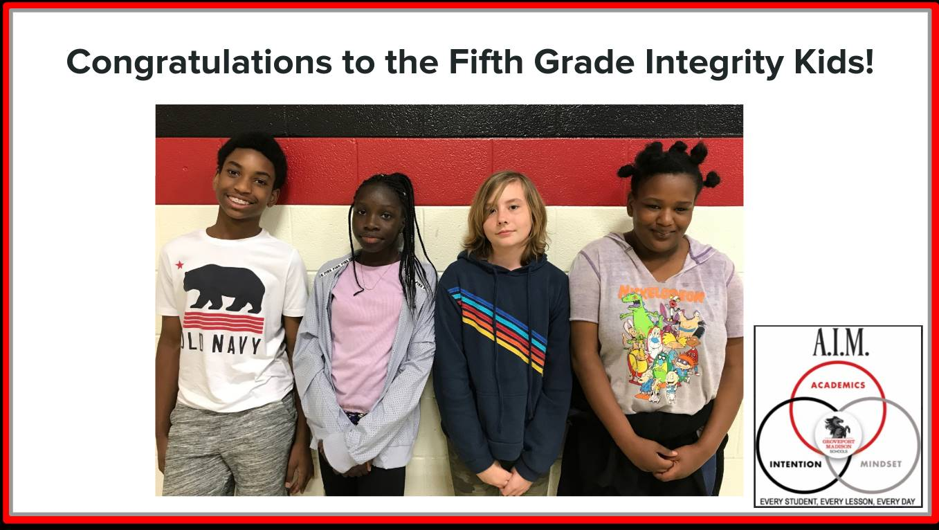 Fifth Grade Focus Students
