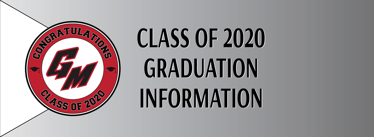 class of 2020 graduation info banner