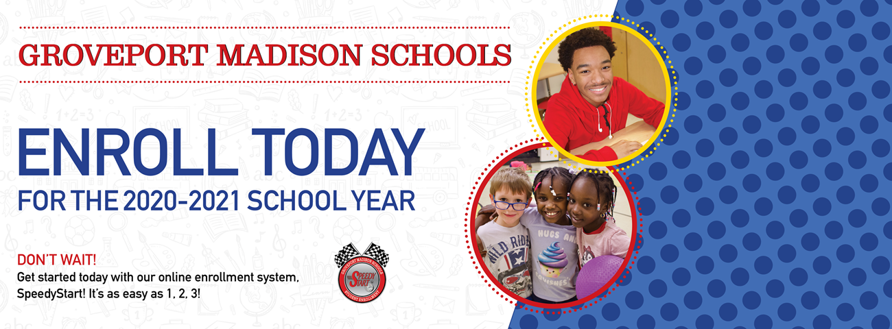 Enroll today banner