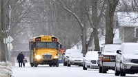 School bus in winter